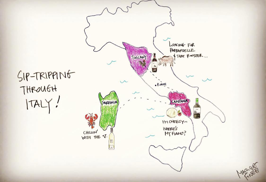 Sip Trip through Italy: Vermentino, Fiano, Chianti Classico